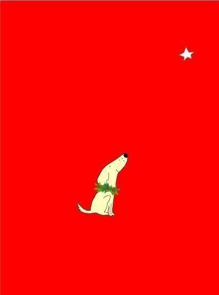 de kleine hond kerstkaarten met krans van LizzyClara op Etsy