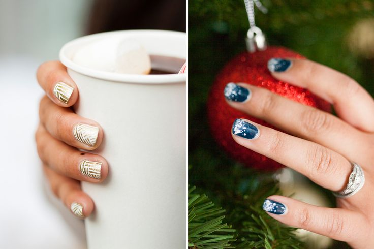 Hello Gorgeous! 2 Genius Holiday Nail Art Tutorials via Brit + Co
