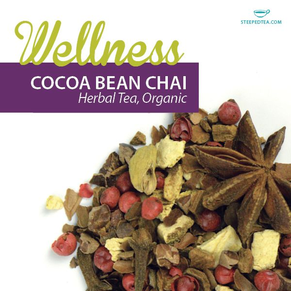 Cocoa Bean Chai is one of our favorite herbal teas!