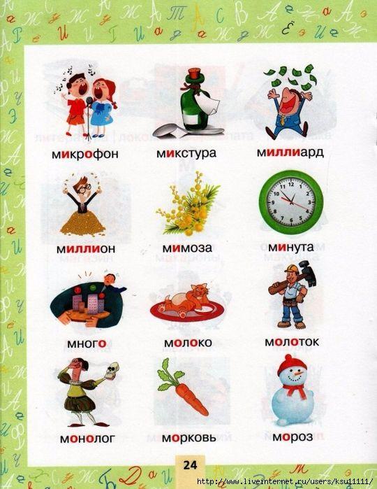 Лексический словарь с картинками
