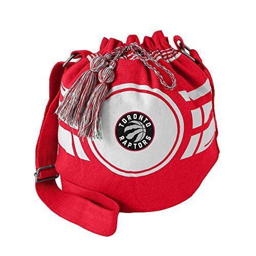 NBA Toronto Raptors Womens NBA Ripple Drawstring Bucket Bag Light Red 12 in Height x 14 Wide x 85 Deep -- See this great product.