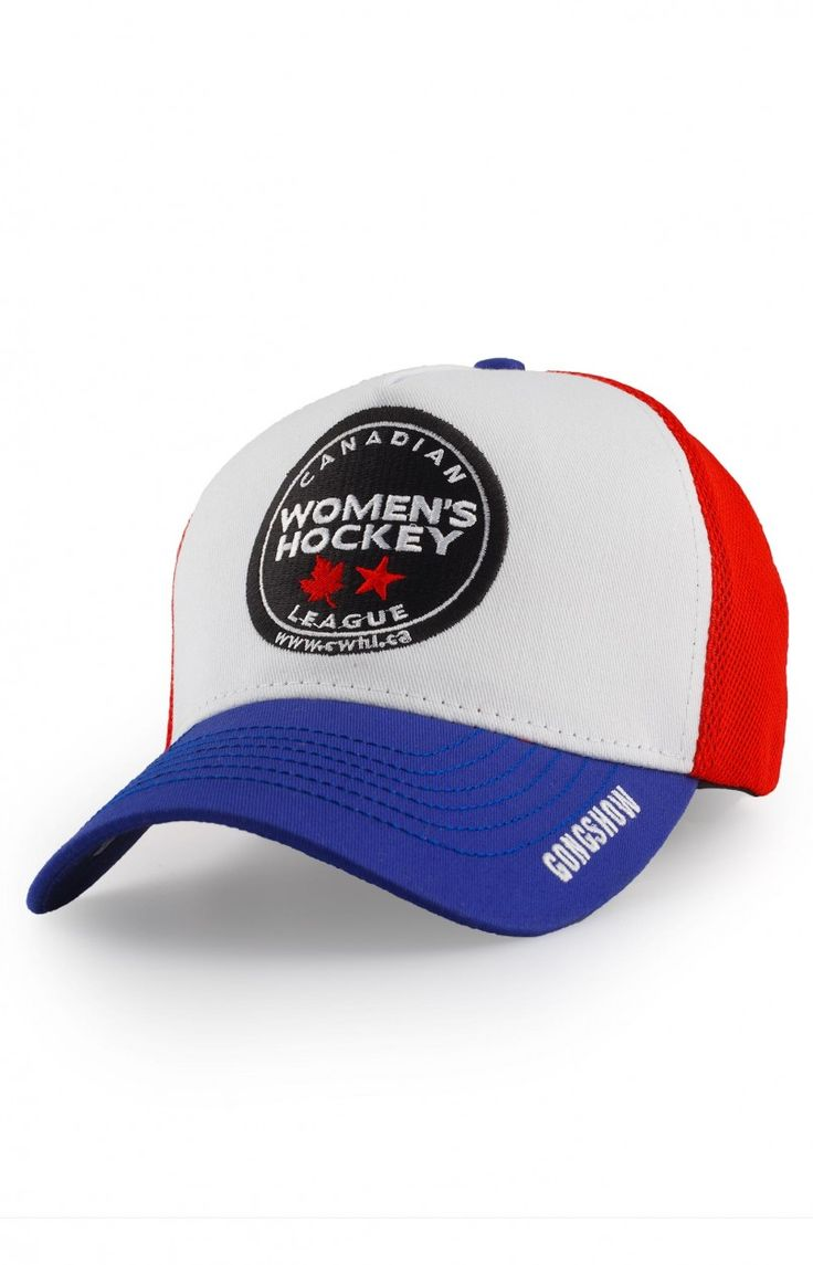 CWHL WHITE/BLUE $29.99 With continuing our focus on helping the game of hockey grow and supporting women's hockey, Gongshow is pleased to release custom Canadian Women's Hockey League hats with all proceeds being reverted back to the CWHL. #GONGSHOW