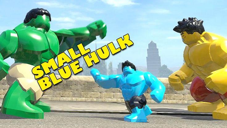 SMALL BLUE HULK vs YELLOW HULK vs HULK (TRANSFORMATION) LEGO MARVEL SUPE...