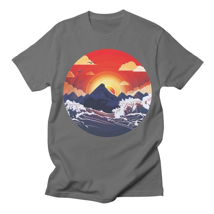 Dusk Men's T-Shirt by goljakoff's Artist Shop  #dusk #sunset #sun #island #storm #nature #ocean #sea