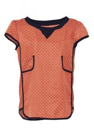 Orange Puff Sleeve Polka Dot Loose Chiffon Shirt: Polka Dots, Cat, Puff Sleeve, Loo Chiffon, Loose Chiffon, Orange Puff, Sleeve Polka, Dots Loose, Chiffon Shirts