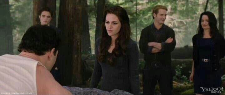 Emmett, Edward, Bella, Carlisle and Esme