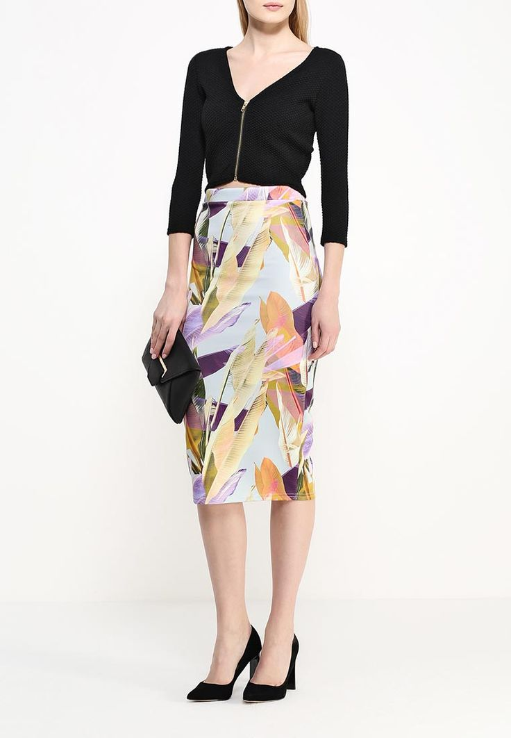 Юбка LOST INK FEATHER PRINT LONGLINE PENCIL купить за 2 299 руб LO019EWHXN32 в интернет-магазине Lamoda.ru