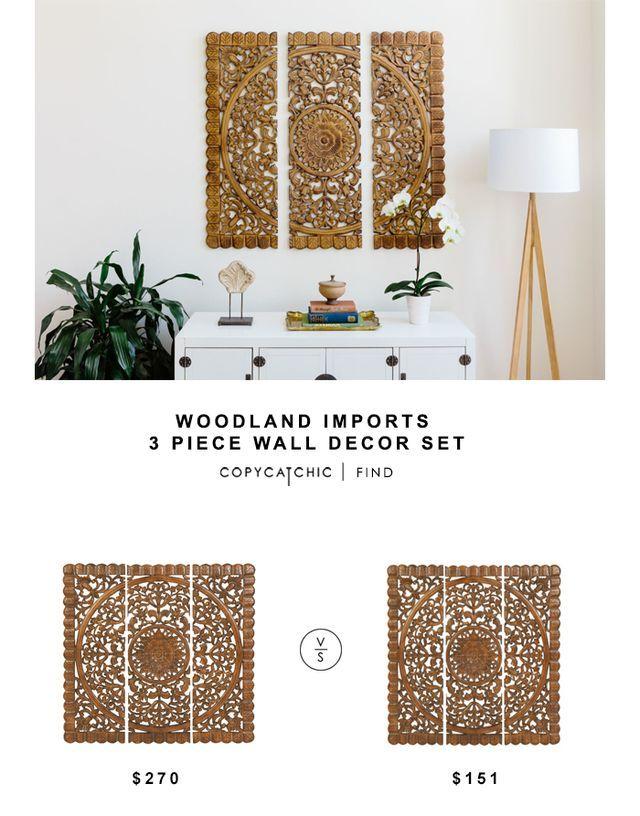 Woodland Imports 3 Piece Wall Decor Set