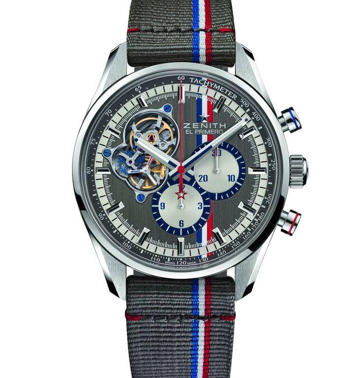 Cette année, Zenith poursuit son partenariat avec le Tour Auto qui partira de Paris le 24 avril prochain. Pour cette occasion, l'horloger loclois vient de dévoiler le chrono qu'il a imaginé en l'honneur de cette splendide course de voitures classiques. Il s'agit d'un modèle Chronomaster E...