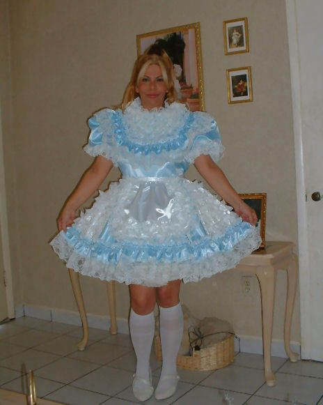43 best images about Sissy Clothing Style on Pinterest ... Ruffled Satin Housemaid