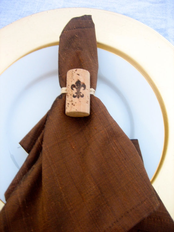 Cork napkin holder