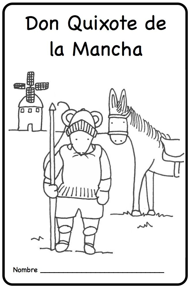 Don Quixote de la Mancha..our adaptation! Perfect for young learners, this printable minibook introduces the episode of the windmills in a simple text. Mundo de Pepita, Resources for Teaching Spanish to Children