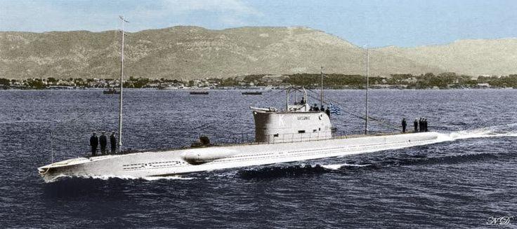 FOUND! The WW2 Greek submarine Y1 \