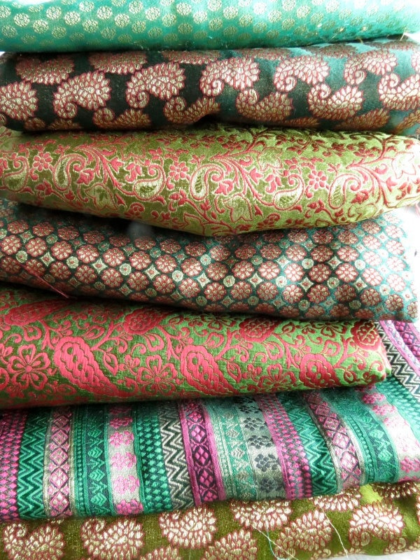 Beautiful rich Indian brocades.