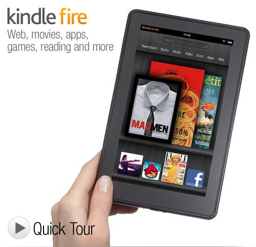 """Kindle Fire  Full Color 7"""" Multi-touch Display, Wi-Fi"""