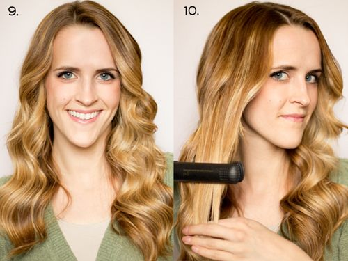 Finally, a fool proof tutorial on how to curl your hair with a flat iron... something I've never quite been able to conquer!