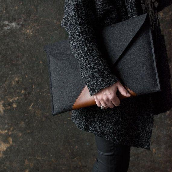 """MacBook 15 """"PRO sietnice case kufrík prémia talianske kožené vlnenej plsti spojky dokonalá ochrana nadčasový dizajn vrecká na zips vkusne"""