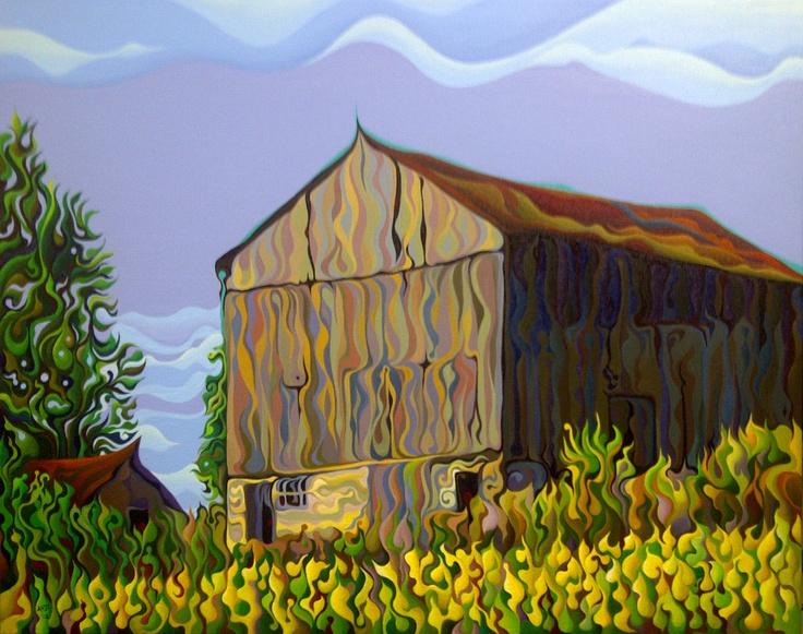 OverGrowth Sanctuary  28 x 22  Acrylic on Canvas