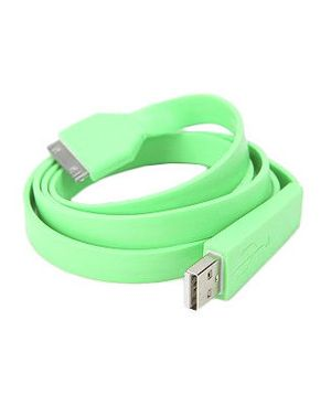 This ultrathin and flat USB cord threads under tight spaces without ever tangling, making it easy to keep your electronic devices (iPhone, iPod, iPad) charged and ready to go. Available in four bright colors.