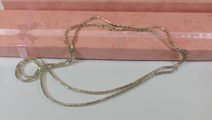 Vintage Halsschmuck - Halskette Schlangenkette Silber 925er Italy SK918 - ein Designerstück von Atelier-Regina bei DaWanda