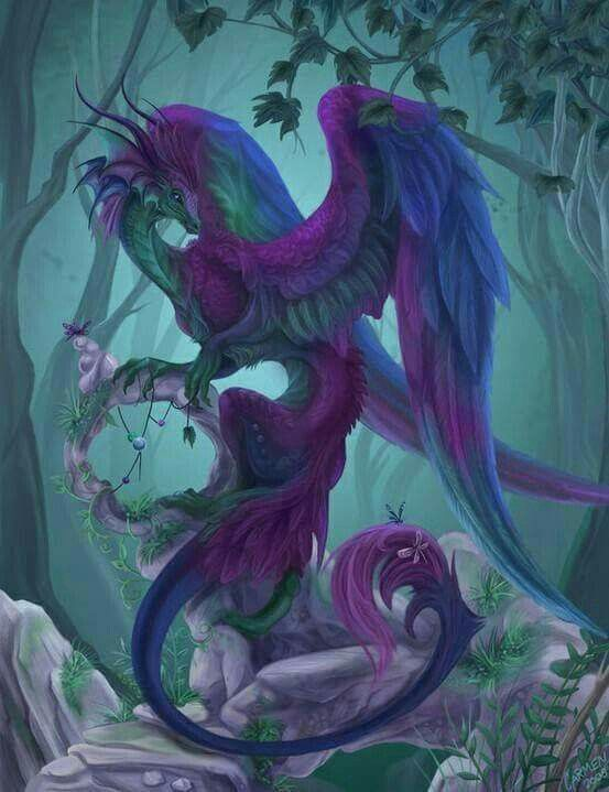 purple and blue dragon Spring