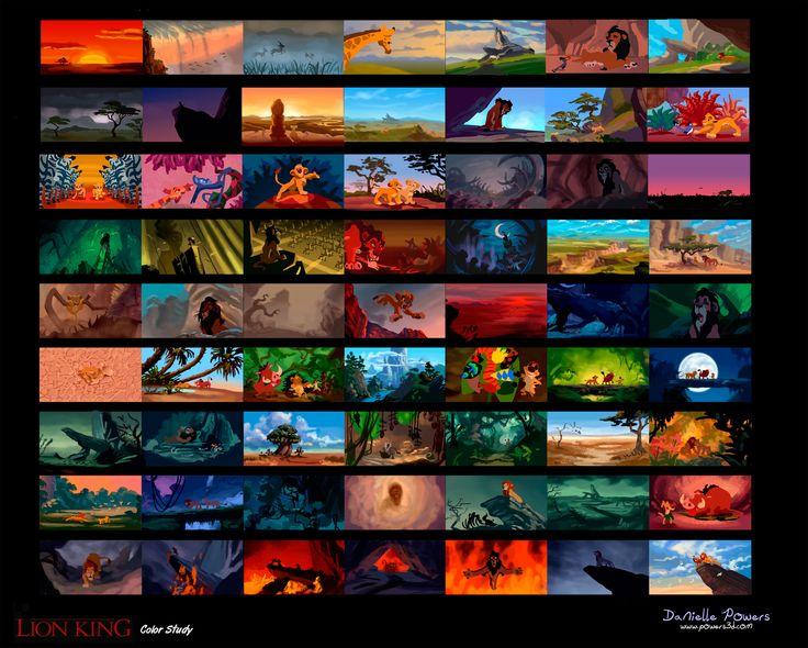 Lion King Color Script Color Script Pinterest