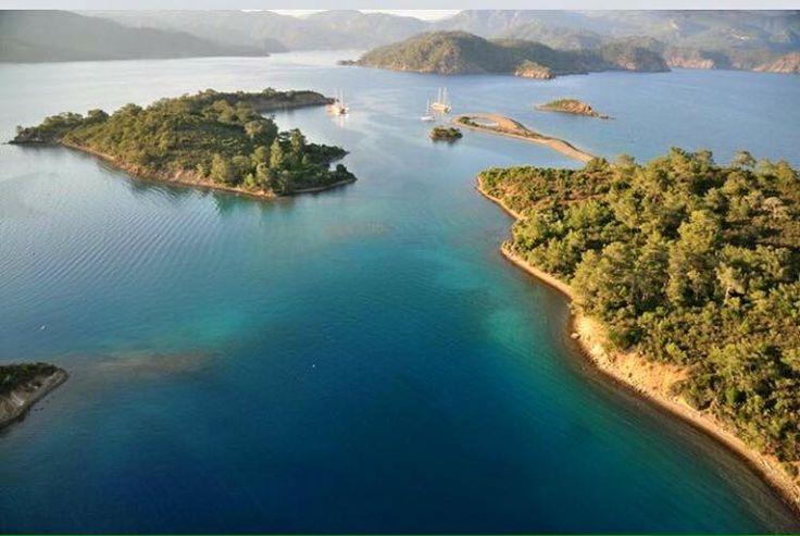 Good morning from #Yassica island near #Gocek in gulf of #Fethiye