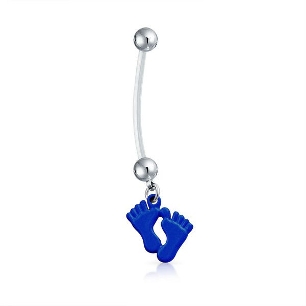 Bling Jewelry Tiny Toes Belly Ring Body Jewelry ($9.99) ❤ liked on Polyvore featuring jewelry, blue, body jewelry, body-piercing-rings, belly rings jewelry, body jewellery, blue jewelry and belly button rings jewelry