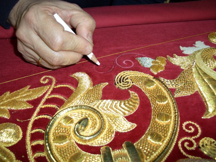 Beautiful goldwork embroidery!