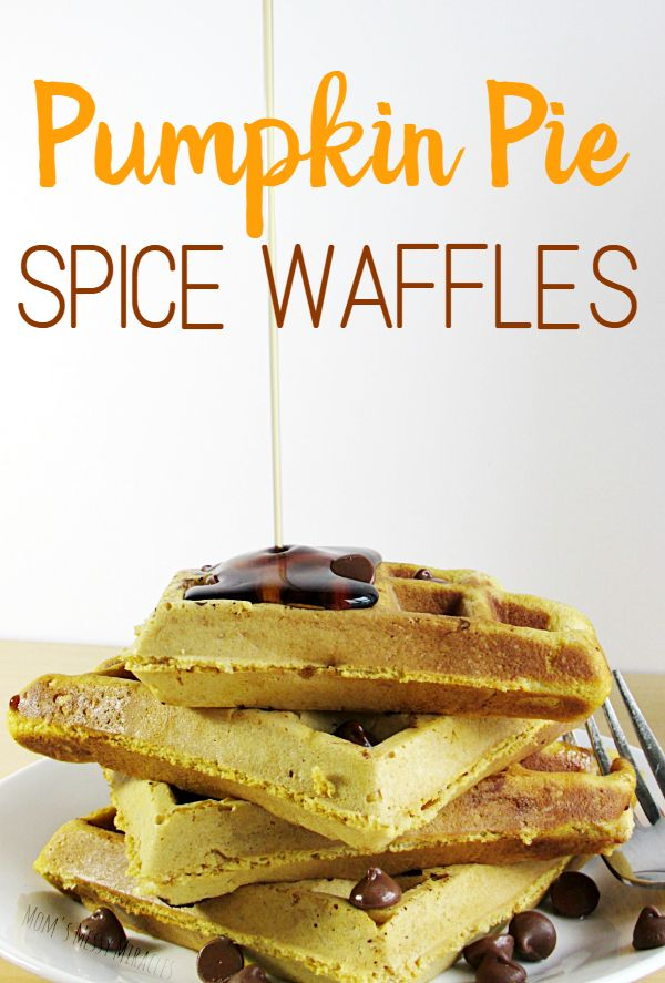 Pumpkin Pie Spice Waffles made with coffee creamer are heavy and ...