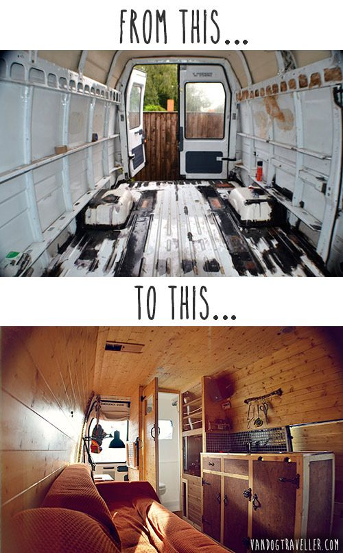 This camper van conversion is one of the most impressive stories we've come across! Why? Because it's not just about an old van converted into a camper. It's also about a story of a young man who bravely stripped his good but ordinary way of life down to the basics and built the adventurous world he dreamed of living.