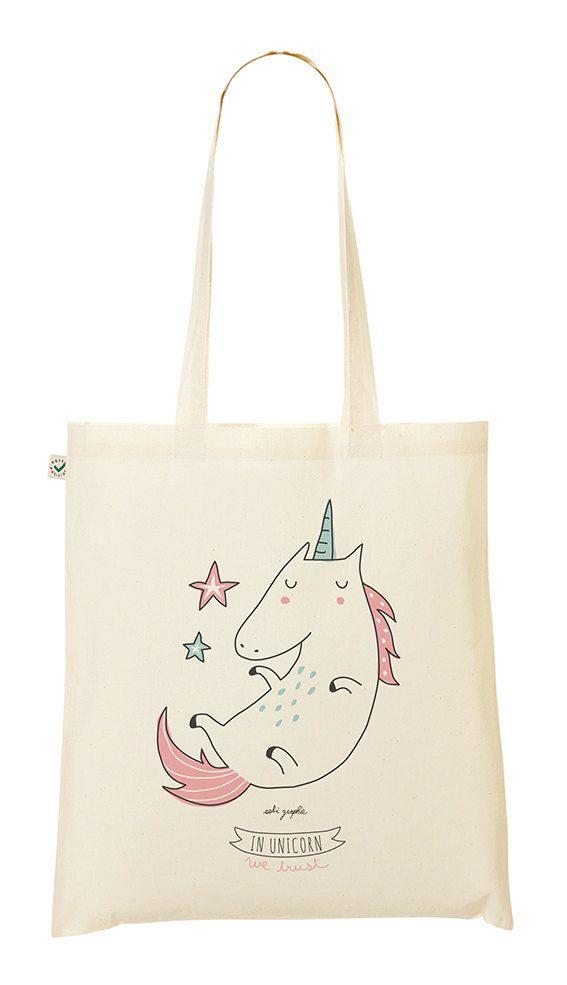 Bolso de mano rosa En unicornio confiamos