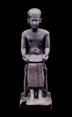 COMPASS Title: Bronze seated statuette of the architect Imhotep