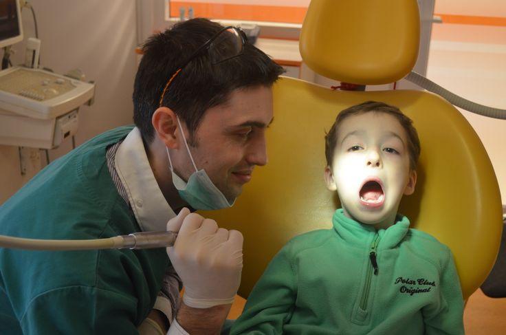 little boy at the dentist,dentist office,no pain dentistry,child dental health,DDS Tiberiu Cazan