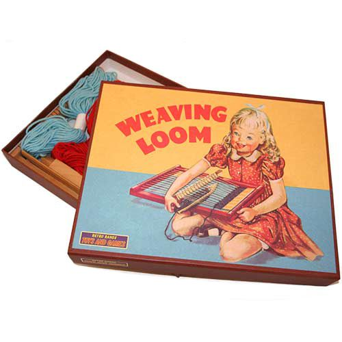 Bring out your childs creativity with this charming loom, based on an original design from the 1950s. A great introduction to the tradition of weaving, it is so simple to use and produces great results children will love.  http://www.english-heritageshop.org.uk/toys-games/activity/weaving-loom