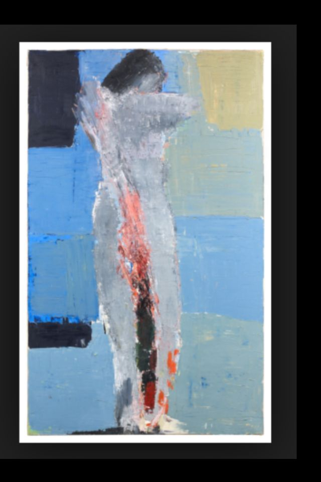 "Nicolas De Staël - ""Nu debout"", 1953 - Huile sur toile - 146 x 89 cm"