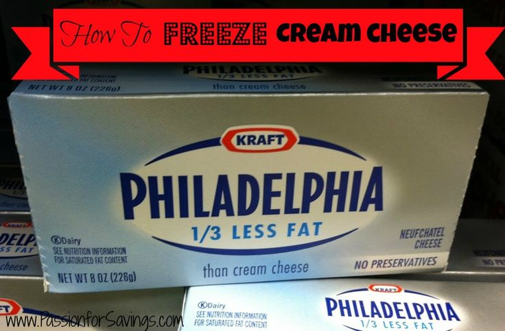 Stock up and save! Find out how to FREEZE Cream Cheese!