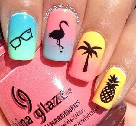 15+ Simple & Easy Summer Nails Art Design & Ideas 2017 – Nail Design