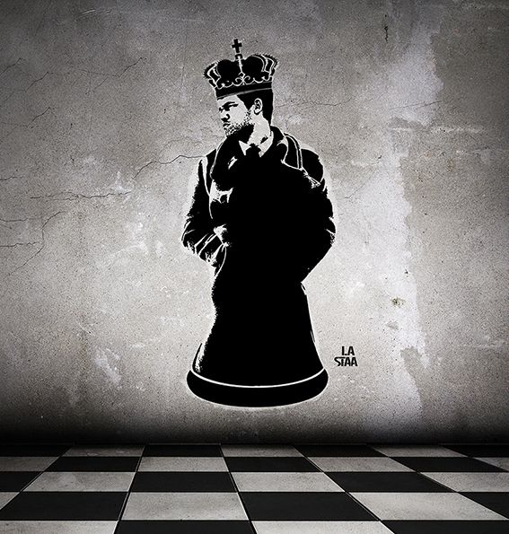 La staa - Magnus Carlsen king of chess street art