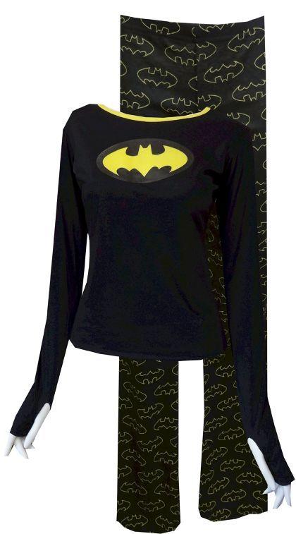 DC Comics Batgirl Glow in the Dark Pajamas for women