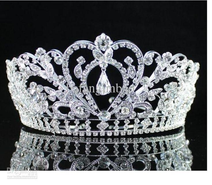TOOGOO(R) Wedding Bridal Rose Gold Crystal Rhinestone Pageant Tiara Crown Party Headband eVARw