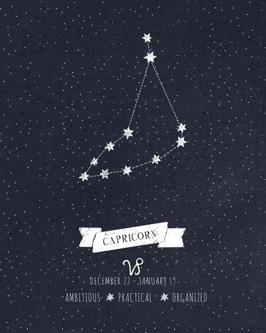 Capricorn Constellation Print Art Print                                                                                                                                                                                 More
