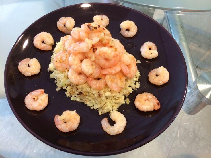 Cohen Shrimp gambas in Caulirice #cohenlifestyle #lynskitchen