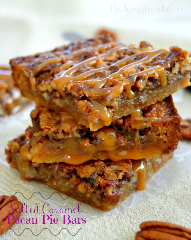 Chewy, gooey pecan pie bars filled with an irresistible brown sugar caramel filling and is topped with a heavy dosage of buttery salted caramel! These will easily become a new favorite this holiday season!