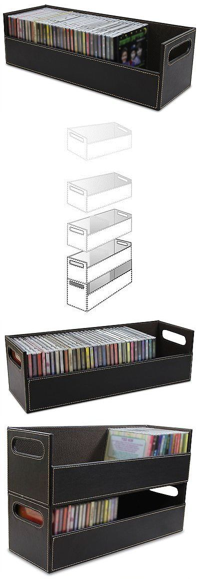 Media Cases and Storage: Cd Storage Container Tray Media Box Collection Rack Shelf Stand Holds 40 Cds New -> BUY IT NOW ONLY: $31.21 on eBay!