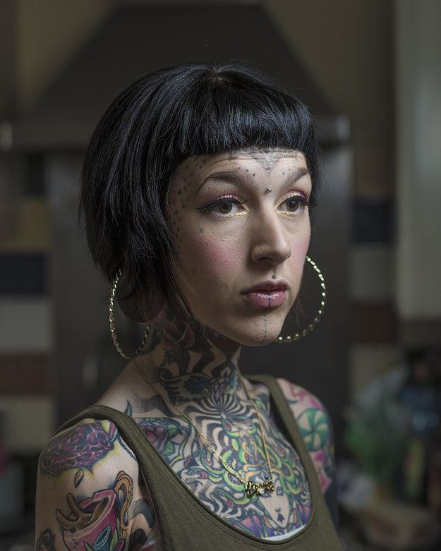 He said they were some of the most down to Earth people he had ever met and hoped the project would allow for a contemporary look on tattooing | Photographer Tries To Show The People Behind Their Facial Tattoos