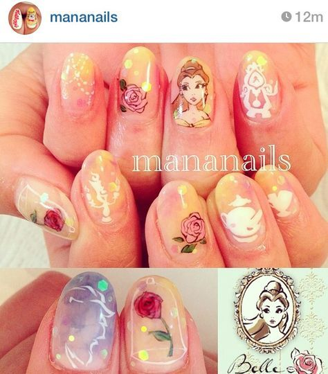 Dress Disney Princess Nails: 1000+ Ideas About Belle Nails On Pinterest
