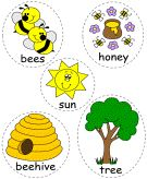 5 busy honey bees felt board characters