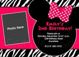 Risultati immagini per inviti compleanno minnie