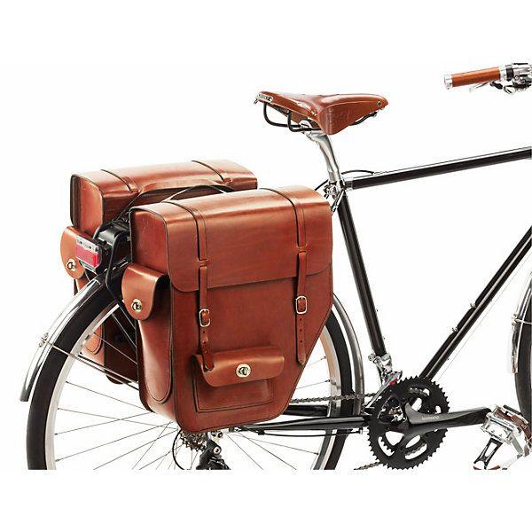 Fahrrad-Gepäcktasche Leder: Fahrradtasche mit großem, einteiligem Innenfach. Gefertigt nach überlieferter Sattlertradition und komplett in Handarbeit.